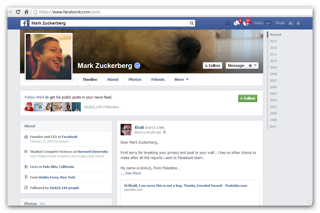 Dia pun kena hack di FB.