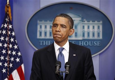 U.S. President Obama holds a news conference on debt negotiations with the U.S. Congress in Washington